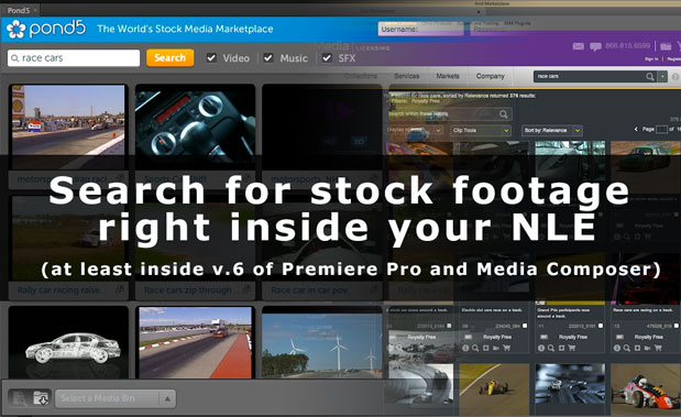 Easy stock footage search inside of Premiere Pro (and Media