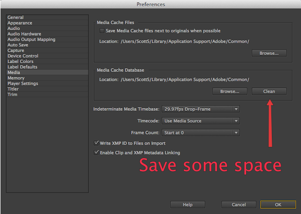 Clean those Adobe Media Cache Files by Scott Simmons - ProVideo