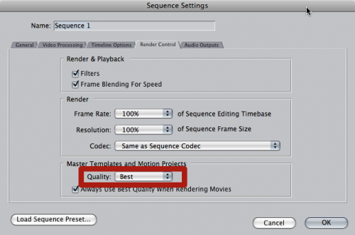 Rendering Motion Projects in Final Cut Pro by Mark Spencer