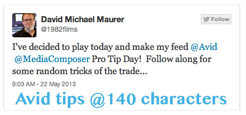 Ice Cold Gold editor tweets a ton of Avid tips 19
