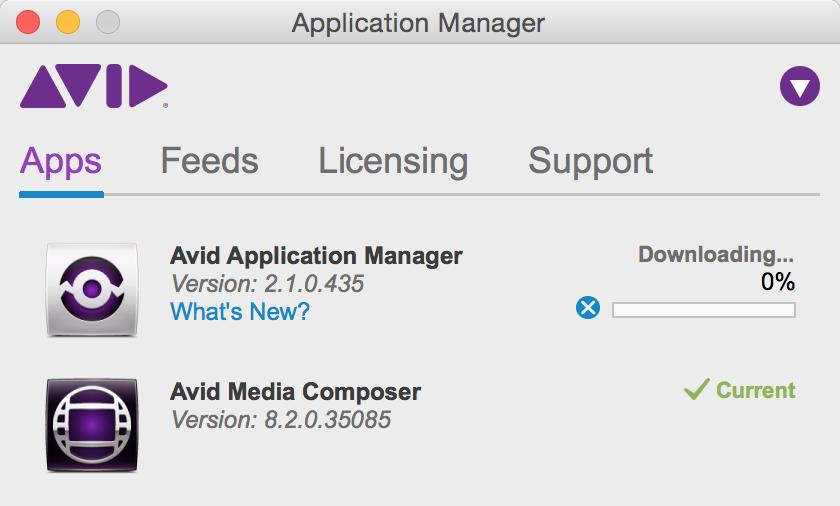 Avid Media Composer Application Manager