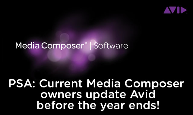 PSA: Current Avid Media Composer owners upgrade to v8 before the end of the year 3