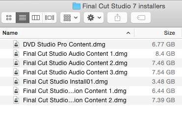 Final Cut Pro 7 disc images