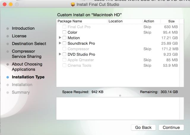 Final Cut Pro 7 installer Final Cut Pro Studio