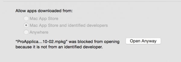 Final Cut Pro 7 update blocked