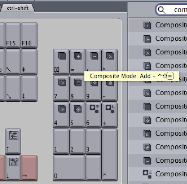 Final Cut Pro 7 composite mode keyboard