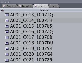 Final Cut Pro 7 multiple projects