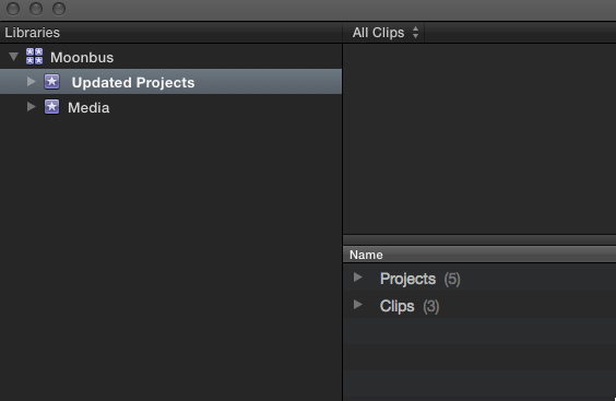Final Cut Pro X 10.1 FCPX Library Libraries
