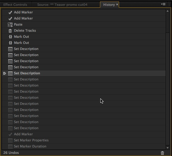 Adobe Premiere Pro History
