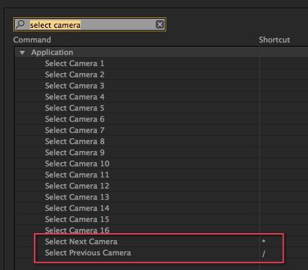 Adobe Premiere Pro CC multicam switch button