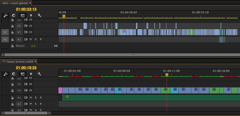 Adobe Premiere Pro CC pancake timeline