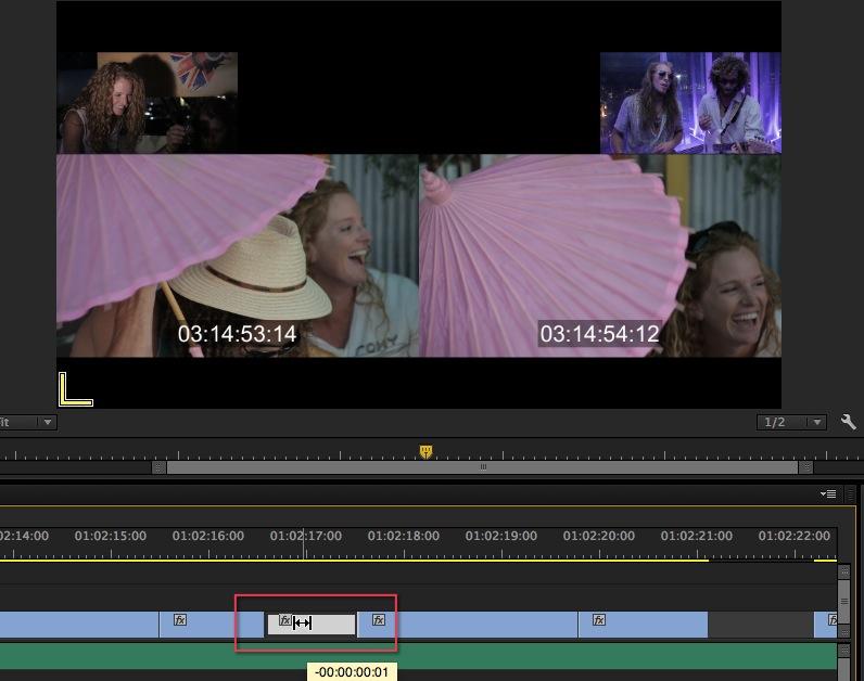 Adobe Premiere Pro CC Slip Tool Slip Trim