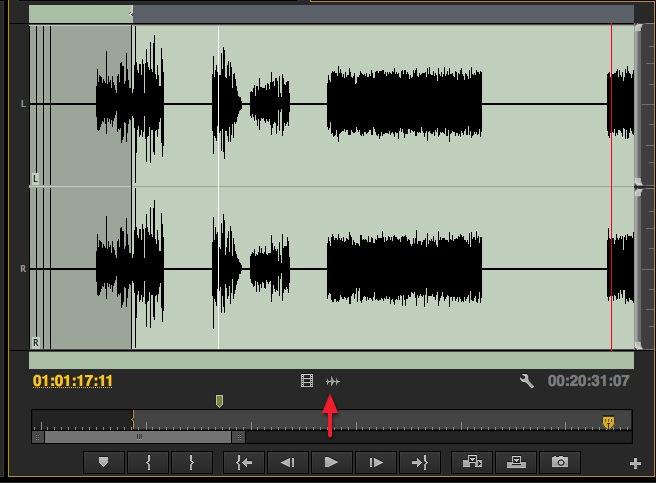 Adobe Premiere Pro CC source waveforms
