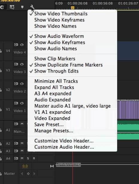 Adobe Premiere Pro CC timeline track patch save