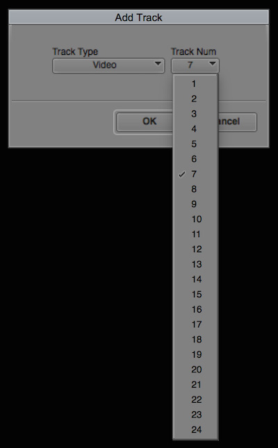 Day 22 #28daysofquicktips - Add a Specific Track Number in your Avid Media Composer Timeline 9
