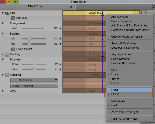 Day 18 #28daysofquicktips - Avid Media Composer keyframes: Fixed vs Elastic and others 8