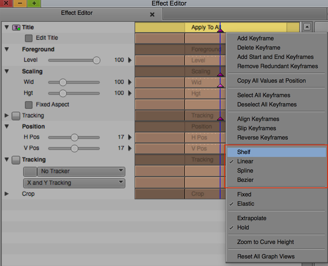 Day 18 #28daysofquicktips - Avid Media Composer keyframes: Fixed vs Elastic and others 9