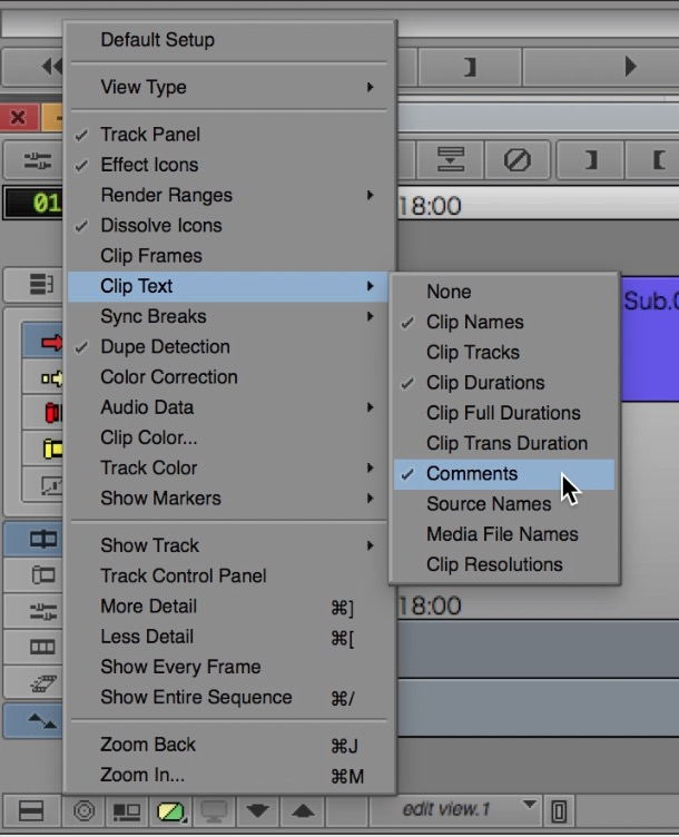 Day 21 #28daysofquicktips - Use EDL Comments to View Notes in Avid Media Composer Timeline 19