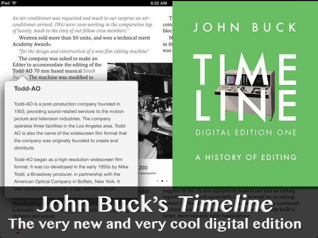 Timeline: A History of Editing goes digital with lots of new material 17