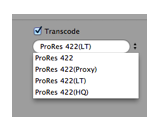 Transcode to any flavor of the Apple ProRes Family