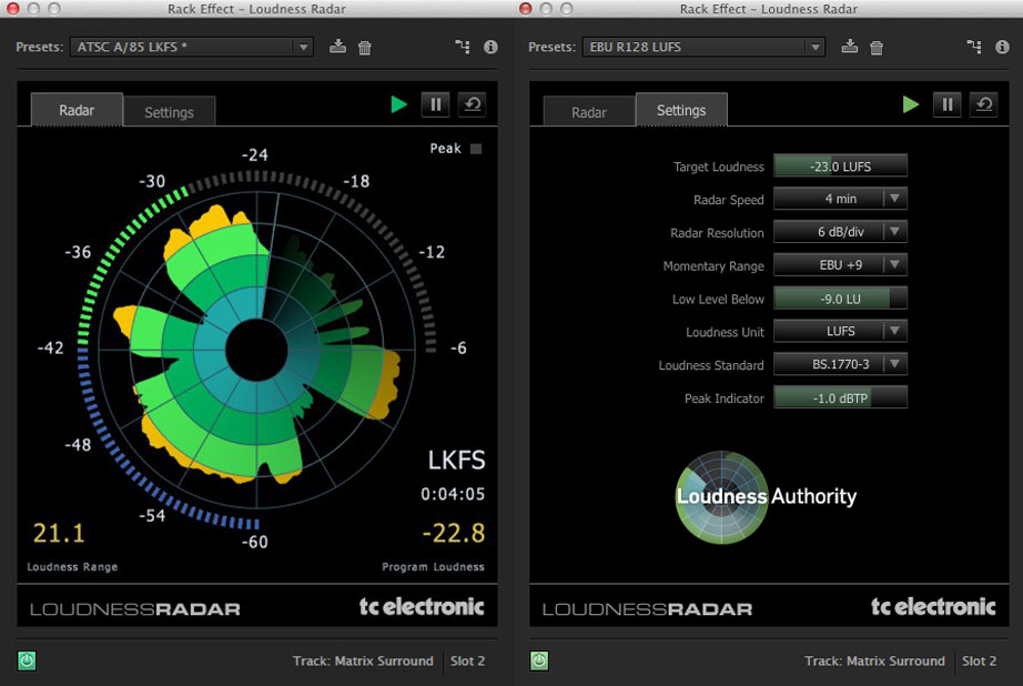 Audio standards and Adobe Loudness Radar 3