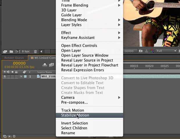 Use Dynamic Link to bring Warp Stabilizer to Premiere Pro CS5.5 3