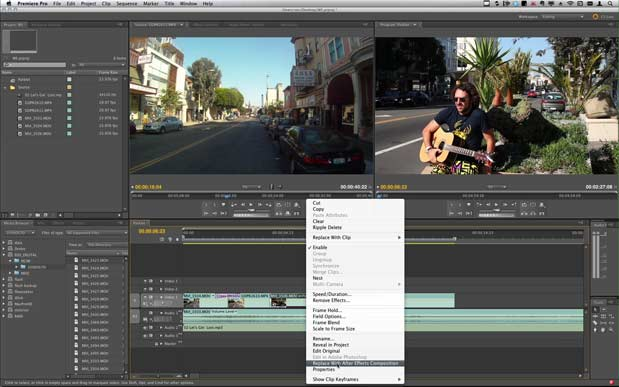 Use Dynamic Link to bring Warp Stabilizer to Premiere Pro