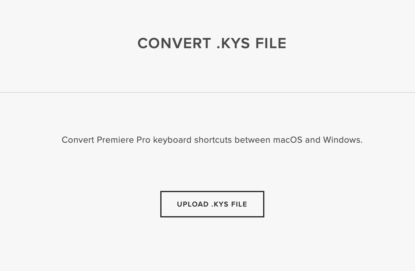 Convert your Adobe Premiere Pro keyboard shortcuts between MacOS and Windows by Scott Simmons - ProVideo Coalition