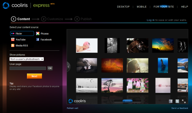 Cooliris Upgrades Embeddable Media Walls And Express Creation Tools 24