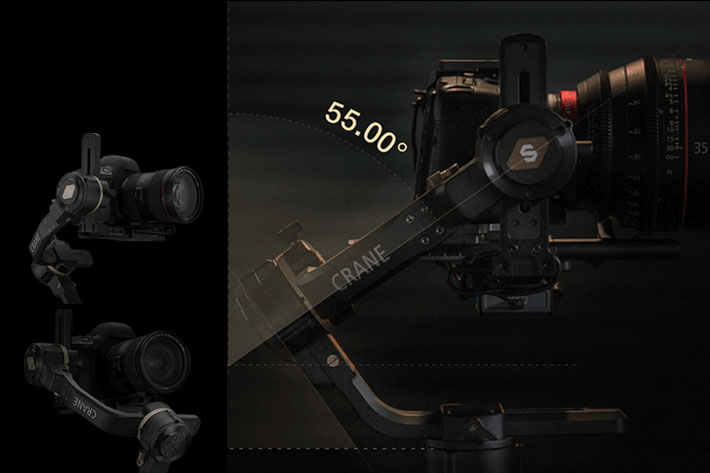 Zhiyun CRANE 3S: a modular gimbal for small DSLRs and large cinema cameras