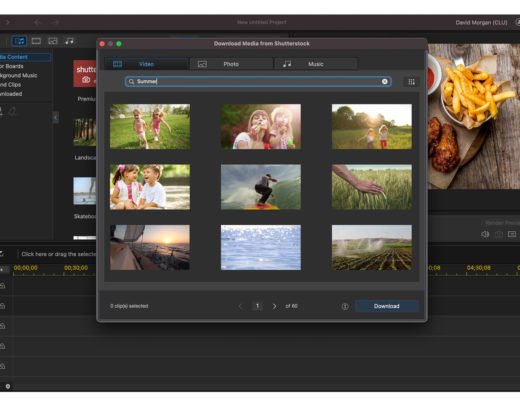 Cyberlink's Shutterstock library accessible to Director users