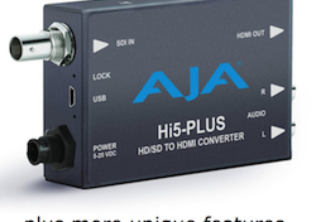 AJA converts PsF-to-progressive with new Hi5-Plus converter 9