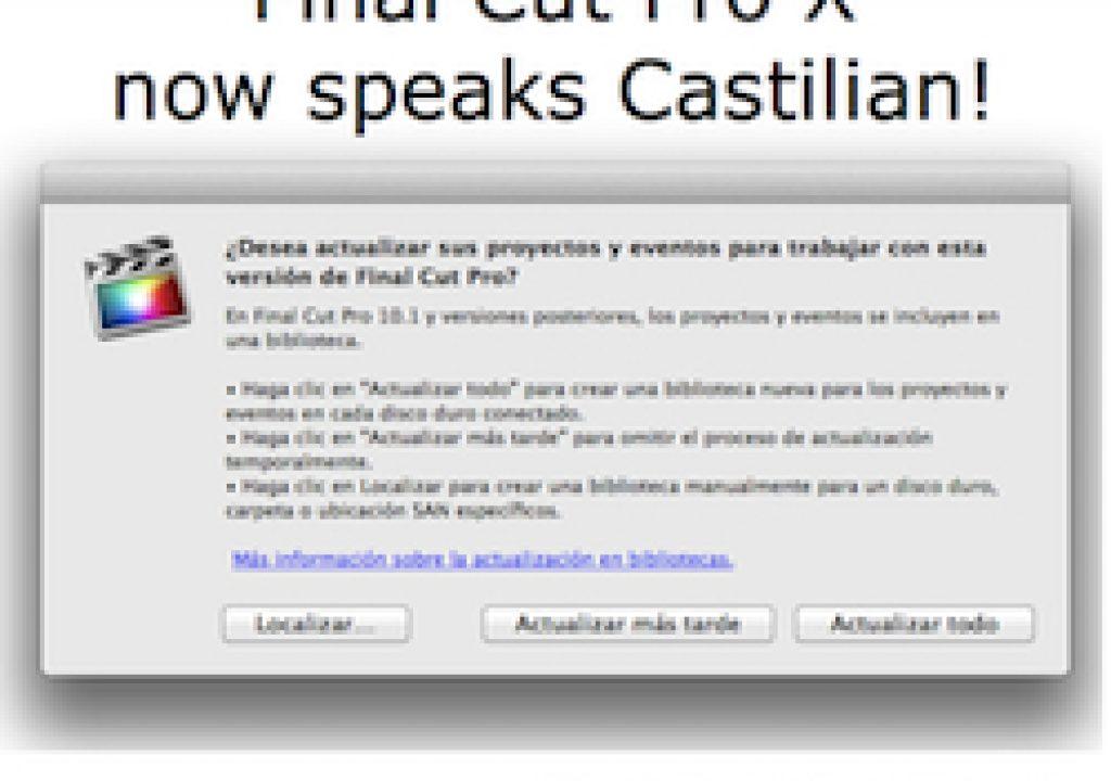 """Final Cut Pro X 10.1 now speaks Castilian (aka """"Spanish"""") 23"""