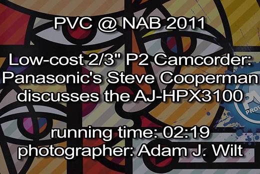 NAB 2011 Video - Panasonic AJ-HPX3100 25