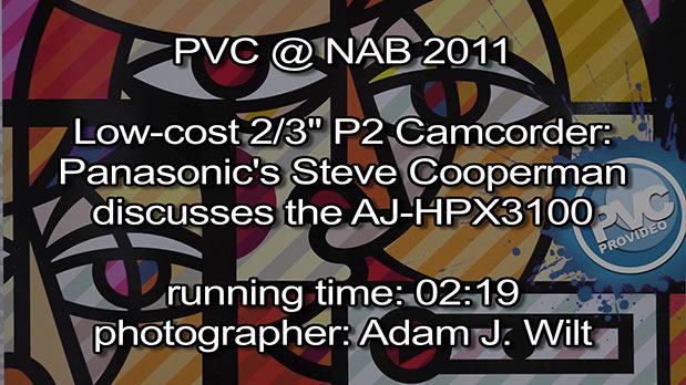 NAB 2011 Video - Panasonic AJ-HPX3100 3