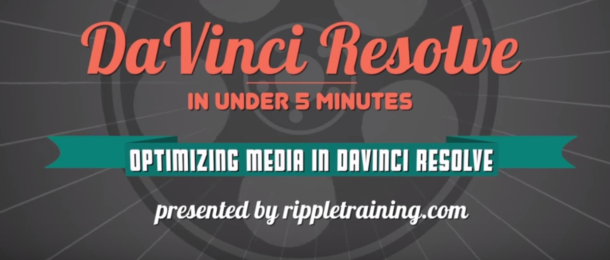 Optimizing media in DaVinci Resolve 12 7