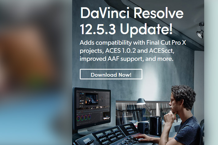 New update to DaVinci Resolve