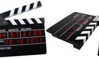 Clapboard Alarm Clock