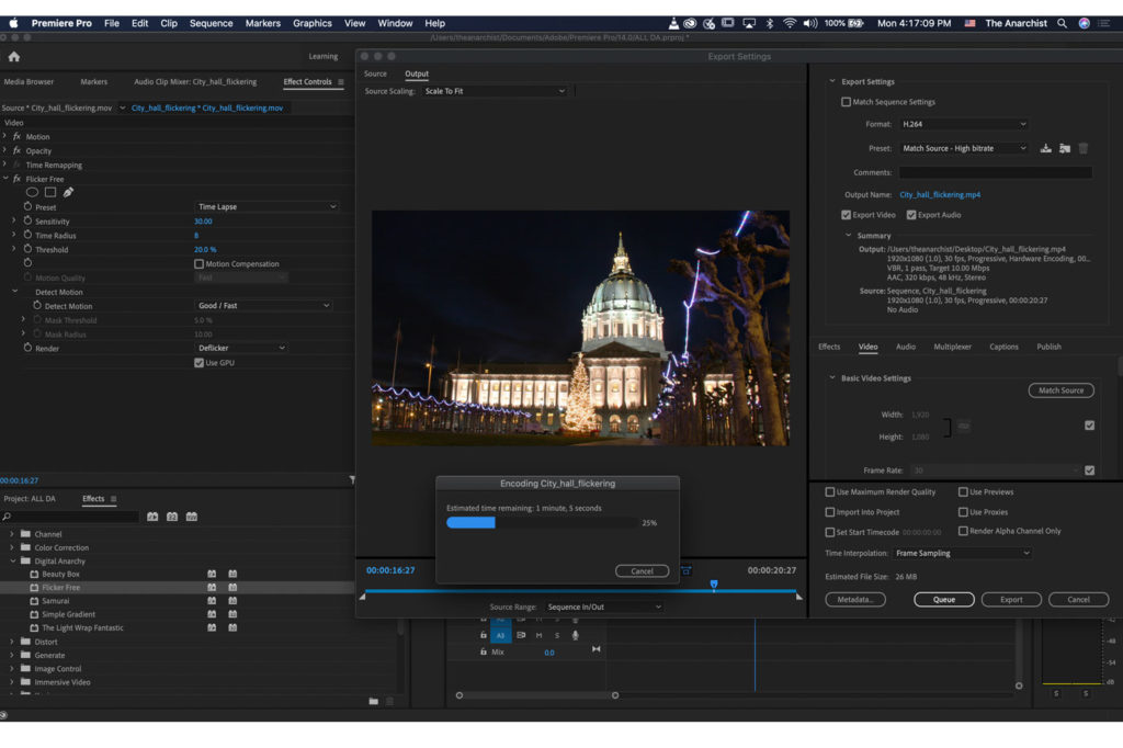 Digital Anarchy family of VFX plugins updated for all NLEs