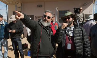 Left to right: Left to right: Director Glenn Ficarra and Cinematographer Xavier Grobet on the set of Whiskey Tango Foxtrot from Paramount Pictures and Broadway Video/Little Stranger Productions in theatres March 4, 2016.