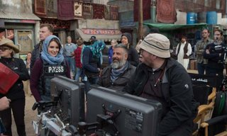 Left to right: Tina Fey, Director Glenn Ficarra and Director John Requa on the set of Whiskey Tango Foxtrot.