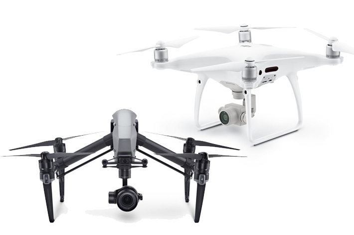 Inspire 2 and Phantom 4 Pro, two new flying cameras