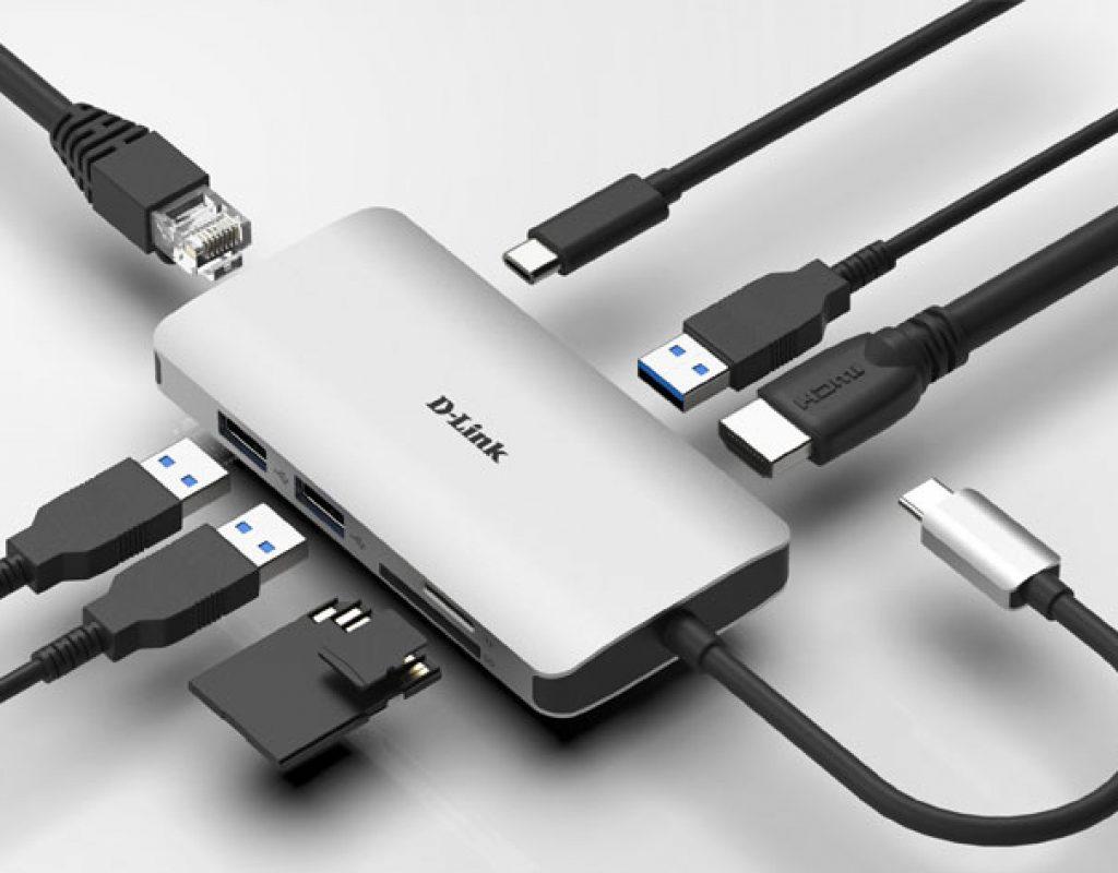 D-Link USB-C adapters: connection, power and extra displays up to 4K 1