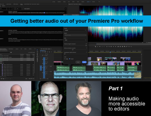 Making audio more accessible to editors 8