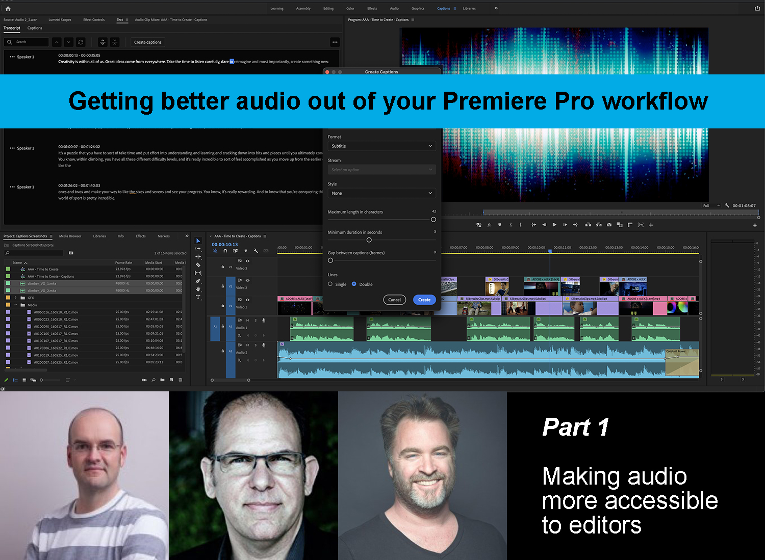 Making audio more accessible to editors 1