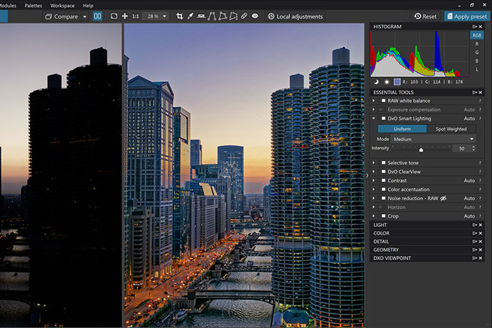 DxO PhotoLab 2.2: faster and with additional camera support
