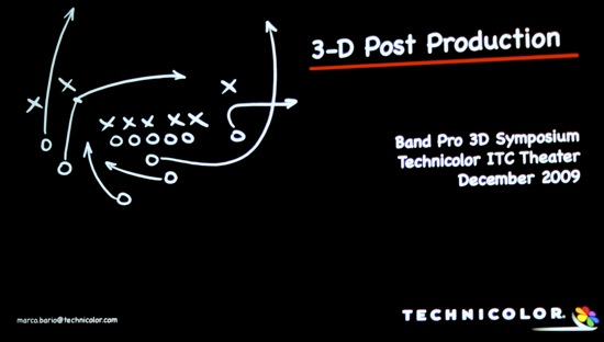 Band Pro's 3D Symposium - all the latest greatest for acquisition and post for stereoscopic imaging 3