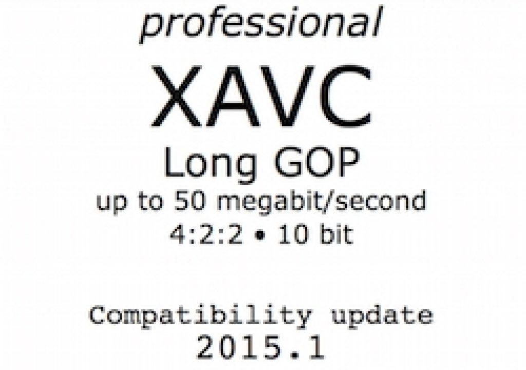 Pro XAVC Long GOP compatibility bulletin 2015.1 9
