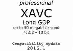 Pro XAVC Long GOP compatibility bulletin 2015.1