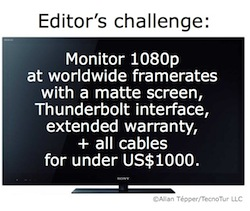 Sony KDL–40BX420E: a low cost monitor for 1080p video editing at worldwide framerates 3
